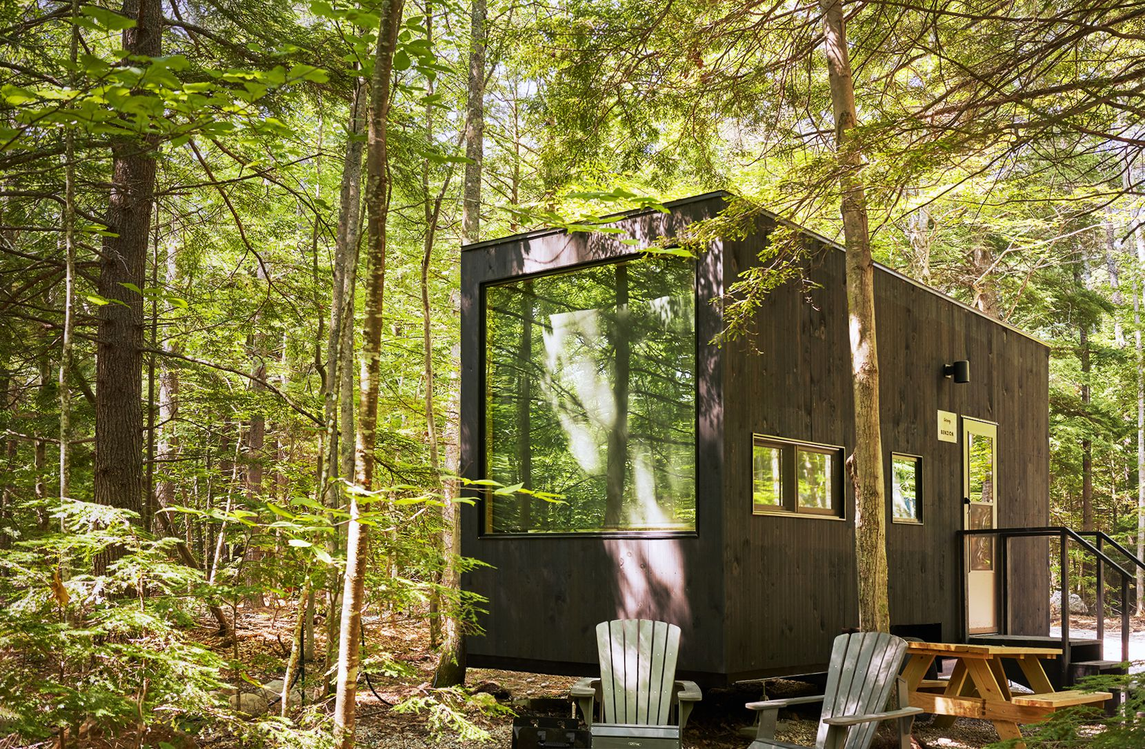 """Getaway cabins offer """"a break from the city, technology and work."""""""