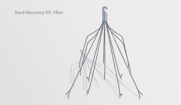 The Bard Recovery IVC Blood Clot Filter is designed to stop clots from traveling to organs like the heart and lungs.