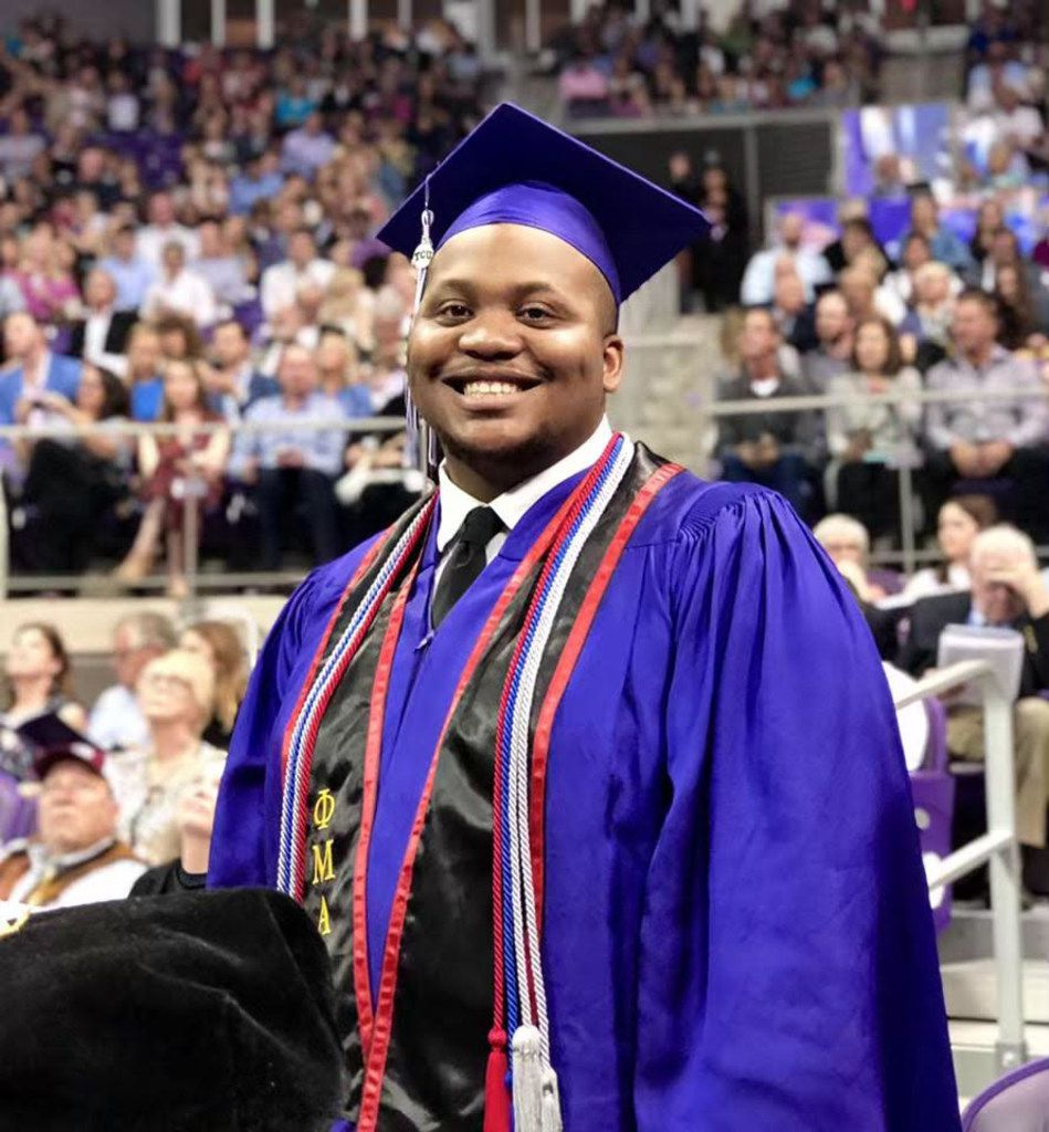 Kevin Day graduating from TCU in May 2019.