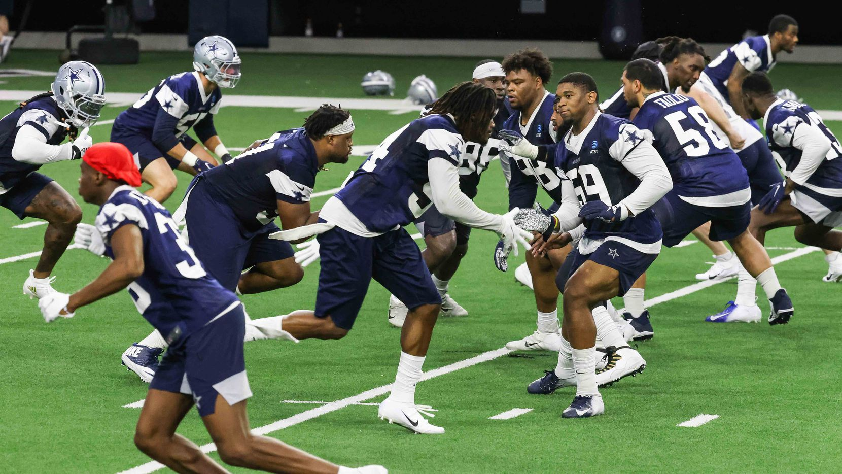 Cowboys' full-squad offseason workouts at The Star in Frisco on Tuesday, May 25, 2021.