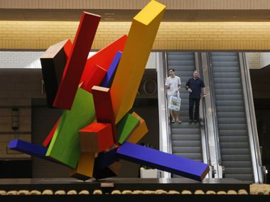 """20 Elements"" (2004-05) by Joel Shapiro is pictured at NorthPark Center in Dallas on Thursday, August 13, 2015."