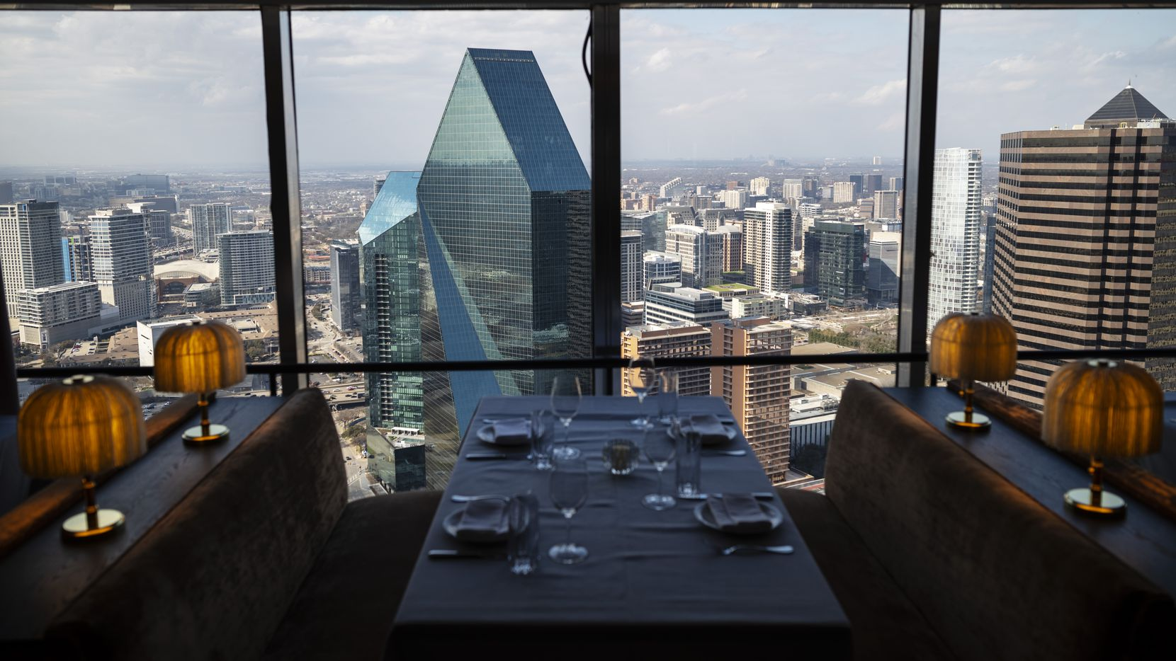 Monarch, the new restaurant on the 49th floor of The National building in downtown Dallas, has views of the city from every side.