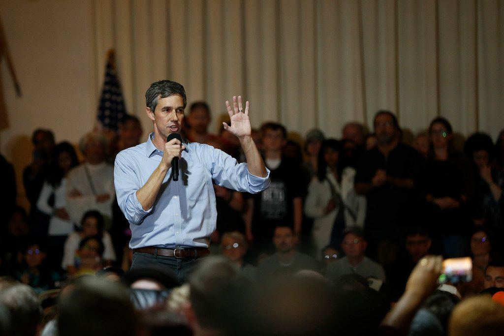Democratic presidential candidate and former U.S. Rep. Beto O'Rourke speaks during a campaign stop at the Irish Cultural Center on April 28 in San Francisco.