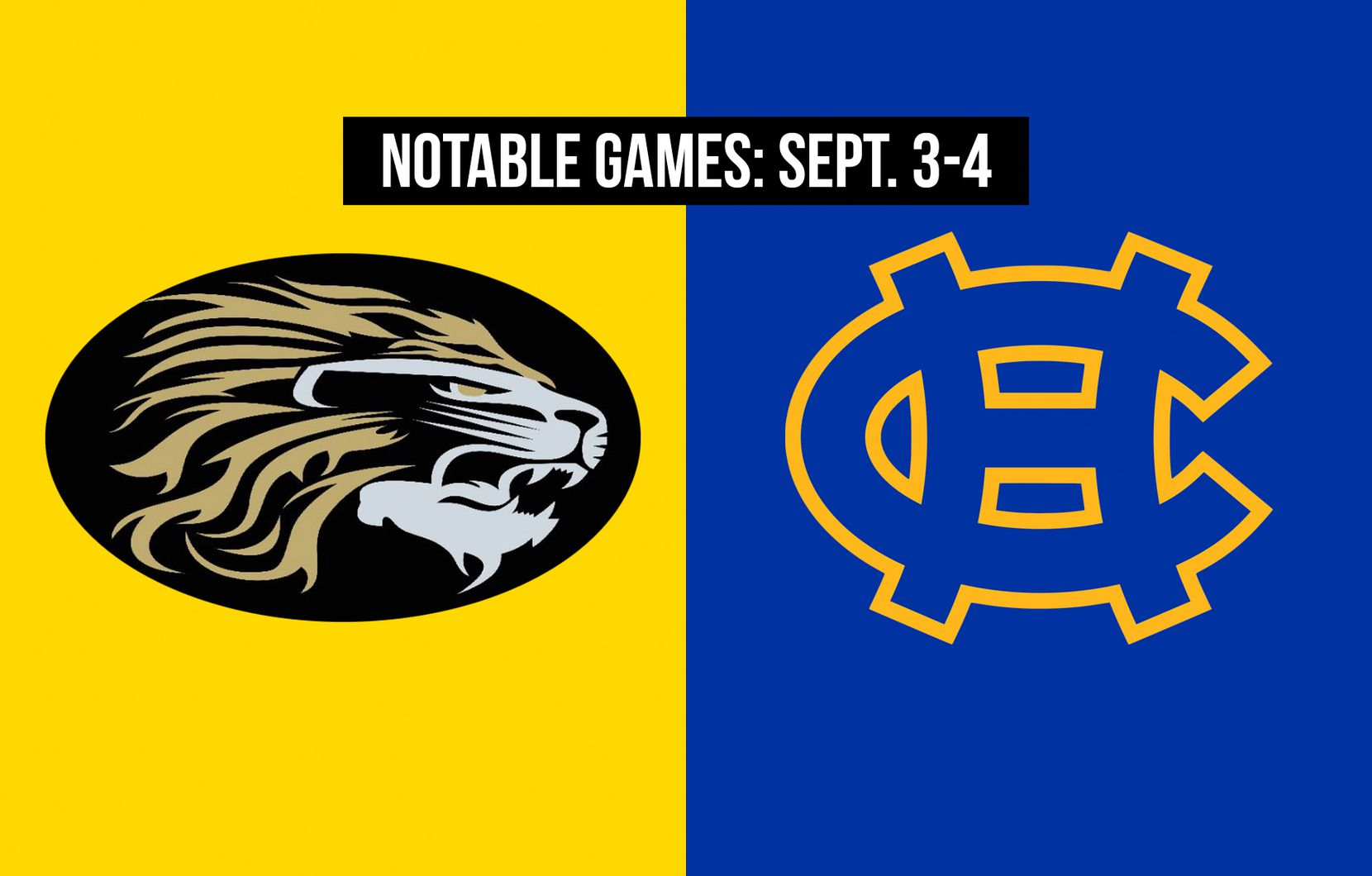 Notable games for the week of Sept. 3-4 of the 2020 season: Kaufman vs. Tyler Chapel Hill.