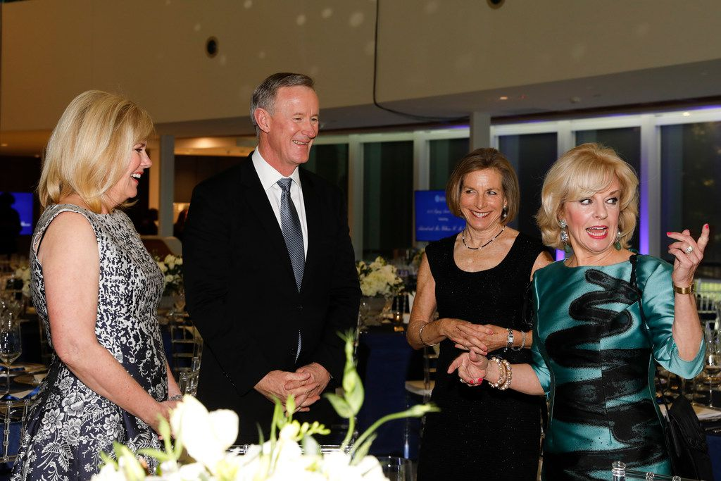 Legacy Dinner chairwoman Patty Huffines (left) is shown with Bill and Georgeann McRaven and Sandi Chapman, chief director of the Center for BrainHeallth in October, when it was announced that the McRavens would be the national spokescouple for the BrainHealth Project.