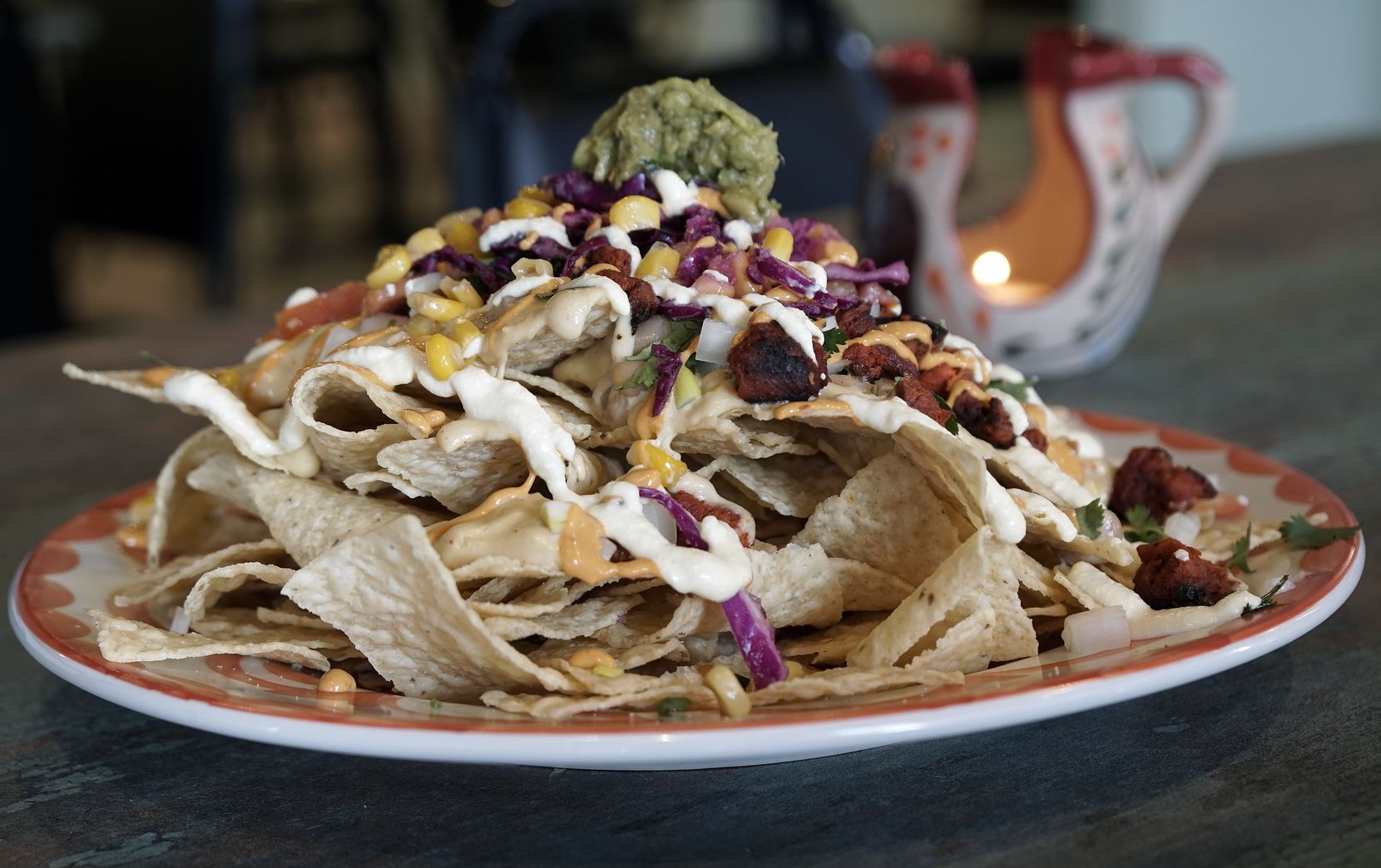 The Grande Nachos are a popular item on the menu at Mariachi's Dine In in Fort Worth.