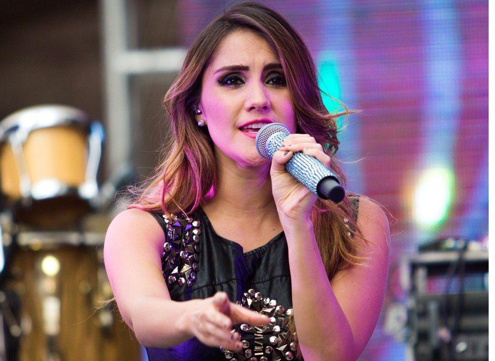 """La cantante Dulce María está feliz con el éxito de su tema """"Volcamos""""./AGENCIA REFORMA"""