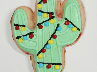 Shalise Quinlan earned second place in the Texas category for her Dr Pepper Cherry Christmas Cactus Sugar Cookies.