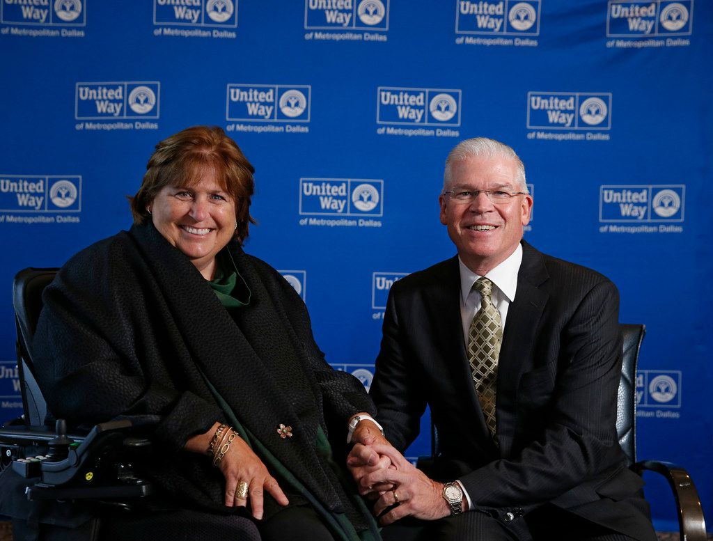 Rich Templeton, CEO of Texas Instruments, and his wife, Mary Templeton, at the United Way of Metropolitan Dallas fundraising campaign in Dallas on Sept. 11, 2018.