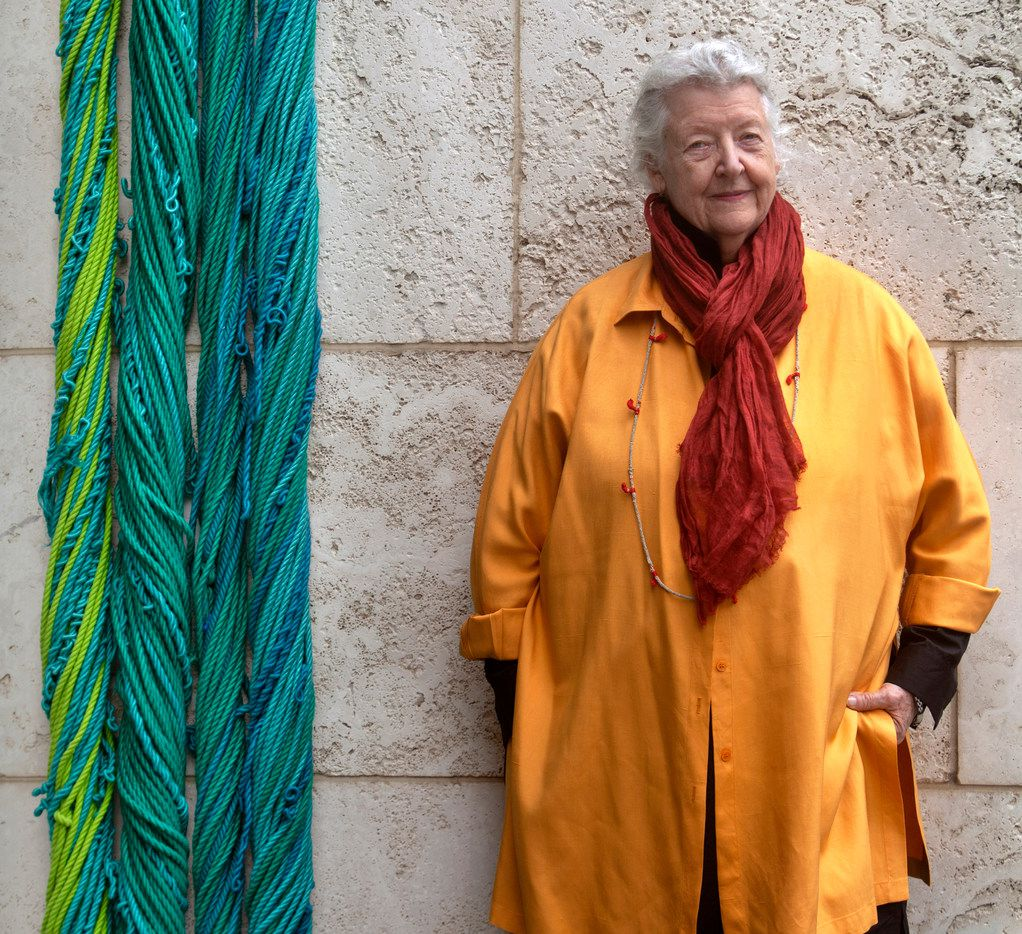 Artist Sheila Hicks' exhibition 'Secret Structures, Looming Presence' at the Dallas Museum of Art opens June 30, 2019. Photographed at the Nasher Sculpture Center in Dallas on May 5, 2019.