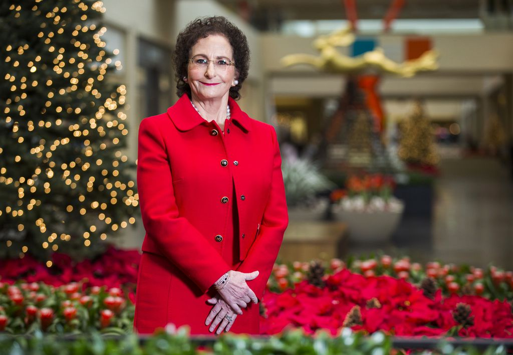"Nancy Nasher, whose parents, Ray and Patsy Nasher, built NorthPark in 1965, co-owns the mall with her husband, David Haemisegger. ""We want people to experience some of the holiday here with their family and friends,"" she says."