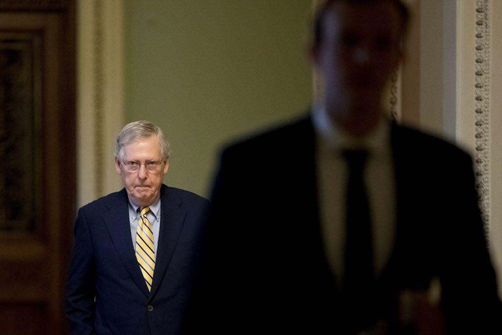 El senador Mich McConnell reconoció el fracaso del plan para sustituir al Obamacare./AP