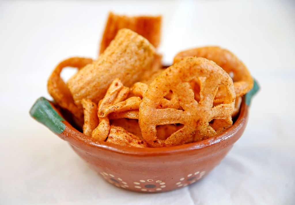 Duros are like pork rinds, but vegetarian.