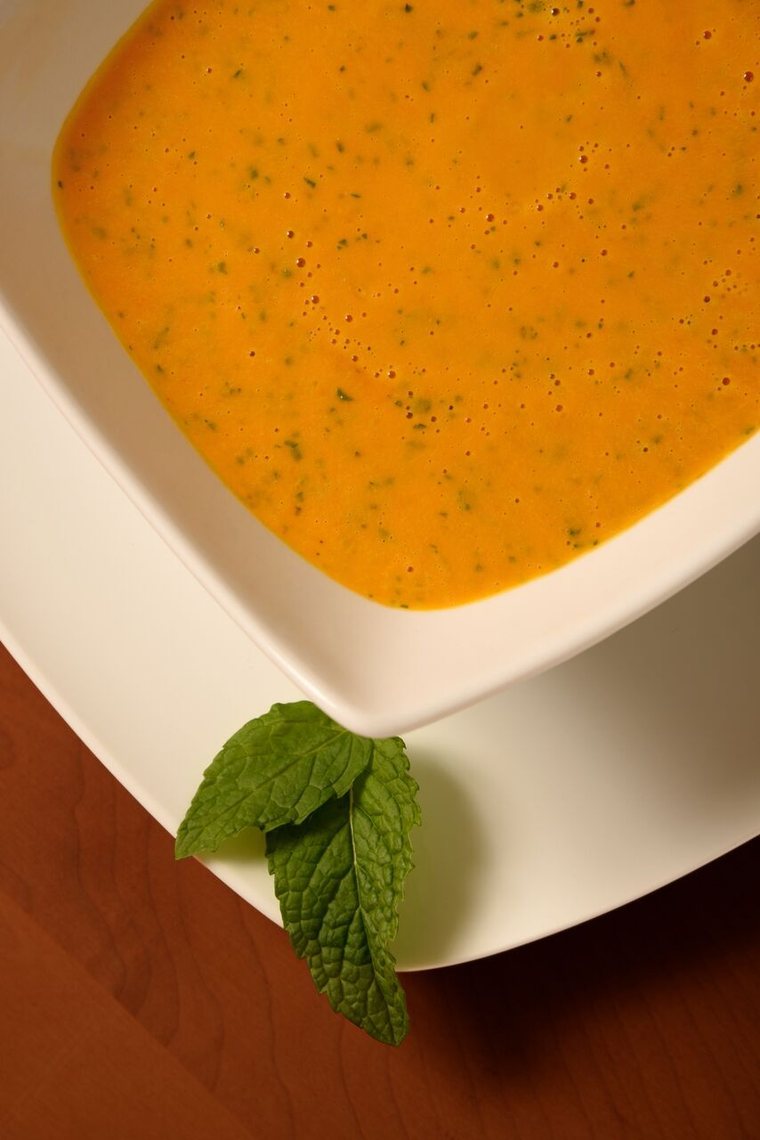 Make carrot soup with coconut milk one season; almond milk in another.