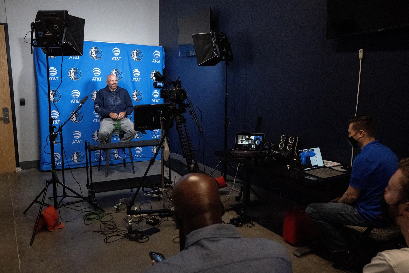 Dallas Mavericks head coach Jason Kidd speaks to the media during the first practice of training camp Tuesday, September 28, 2021 at the Dallas Mavericks Training Center in Dallas. (Jeffrey McWhorter/Special Contributor)