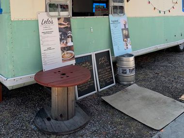 The Barley Gastrovan sits outside TUPPS Brewery. The Gastrovan is a trailer built out by McKinney restaurant Rye that will operate as a food truck on-site at TUPPS when government regulations allow the taproom to reopen.