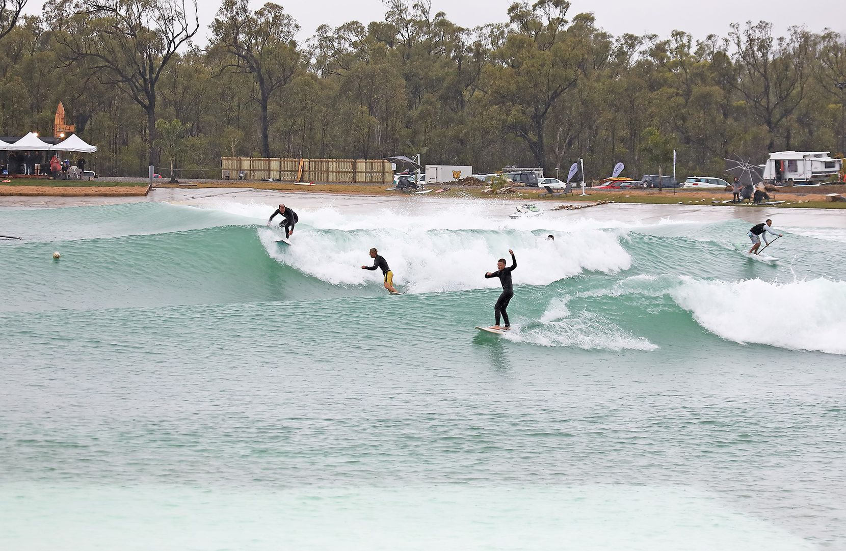 Surf Lakes has built a prototype wave pool at home in Australia.