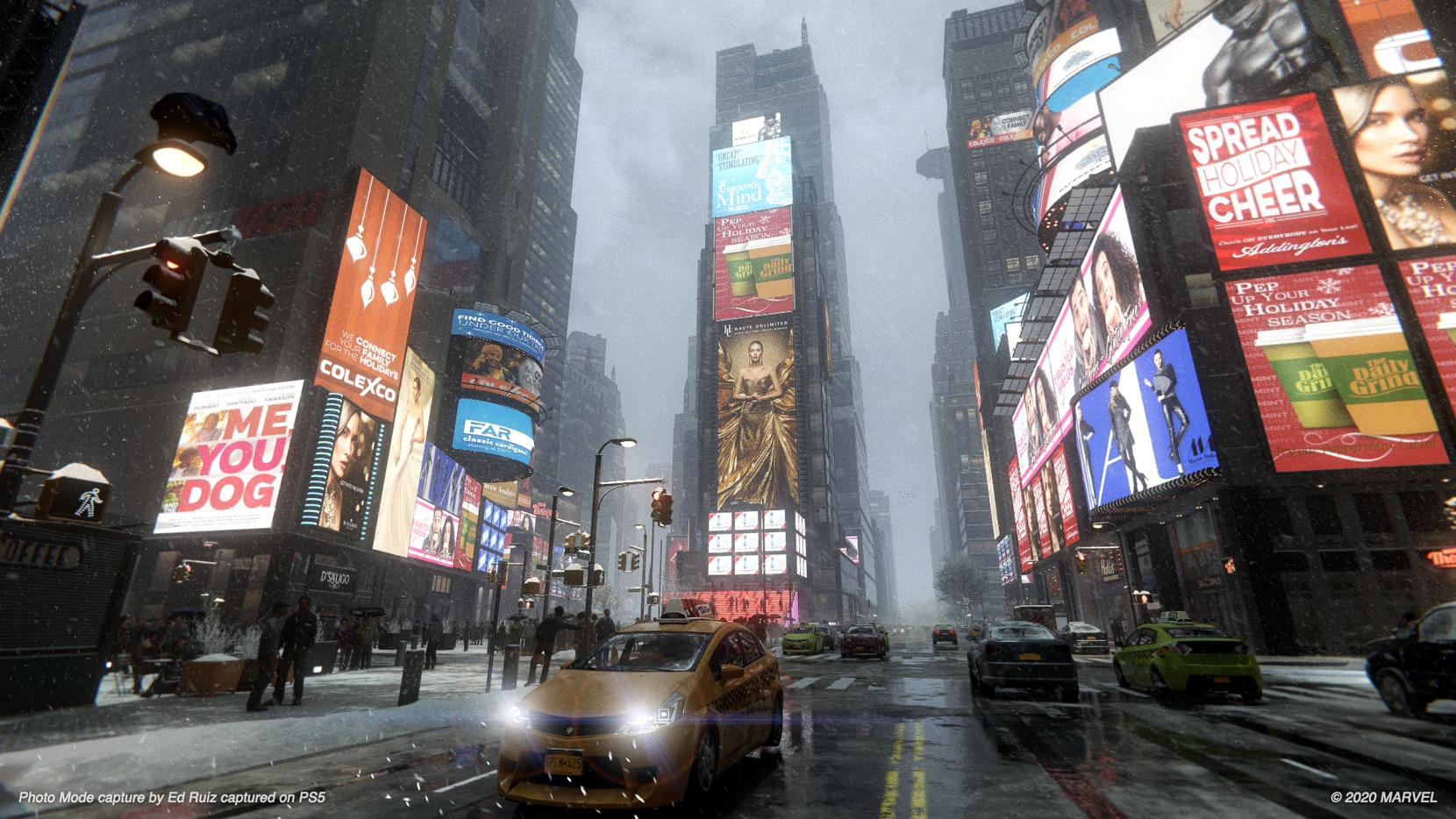 """Times Square as it appears in """"Marvel's Spider-Man: Miles Morales"""" on the PlayStation 5."""