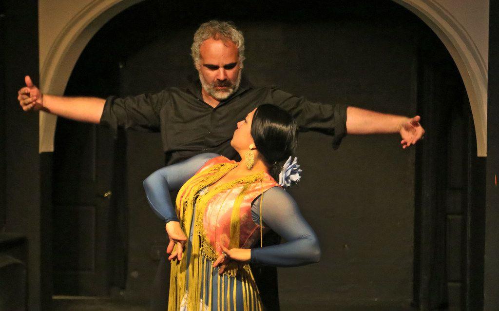 """Flamenco dancers Antonio Arrebola and Delilah Buitrón Arrebola in an earlier collaboration with Ochre House Theater, """"Picasso: Matador de Málaga."""""""