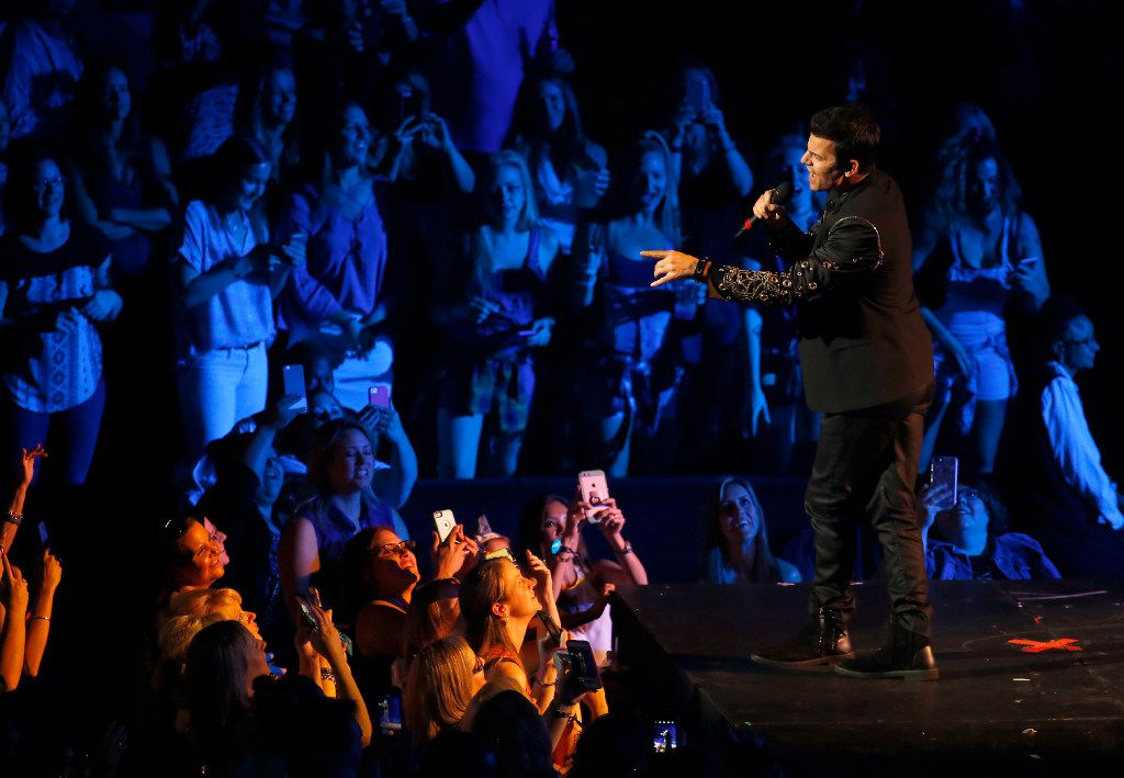 New Kids On The Block's Jordan Knight performs on stage during the Total Package Tour at American Airlines Center in Dallas, Tuesday, May 23, 2017. (Jae S. Lee/The Dallas Morning News)