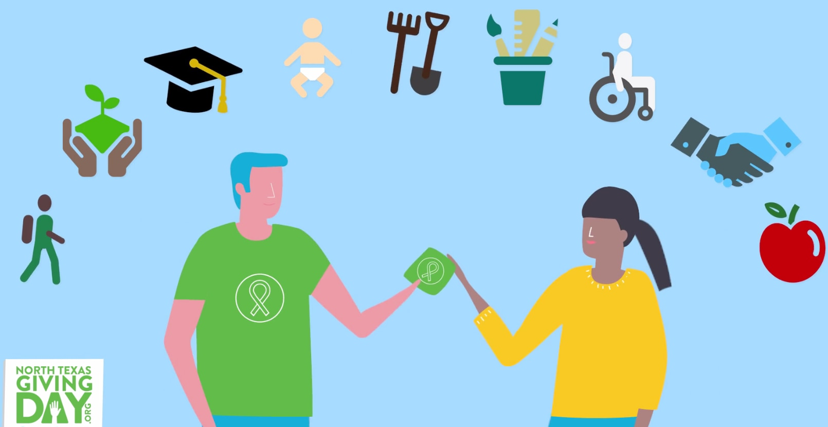 Screenshot from the promotional video for North Texas Giving Day 2017.