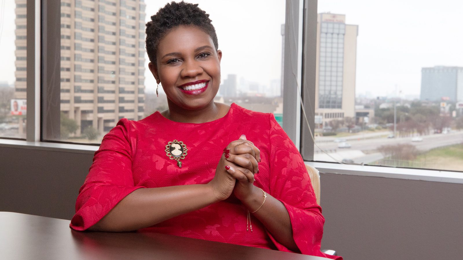 """Akilah Wallace started her career as an executive assistant at Dallas Women's Foundation (now Texas Women's Foundation). Today she is executive director of Faith in Texas. """"Institutions need to invest in Black and brown women who are already running nonprofit programs by giving them equitable pay and benefits,"""" she says."""