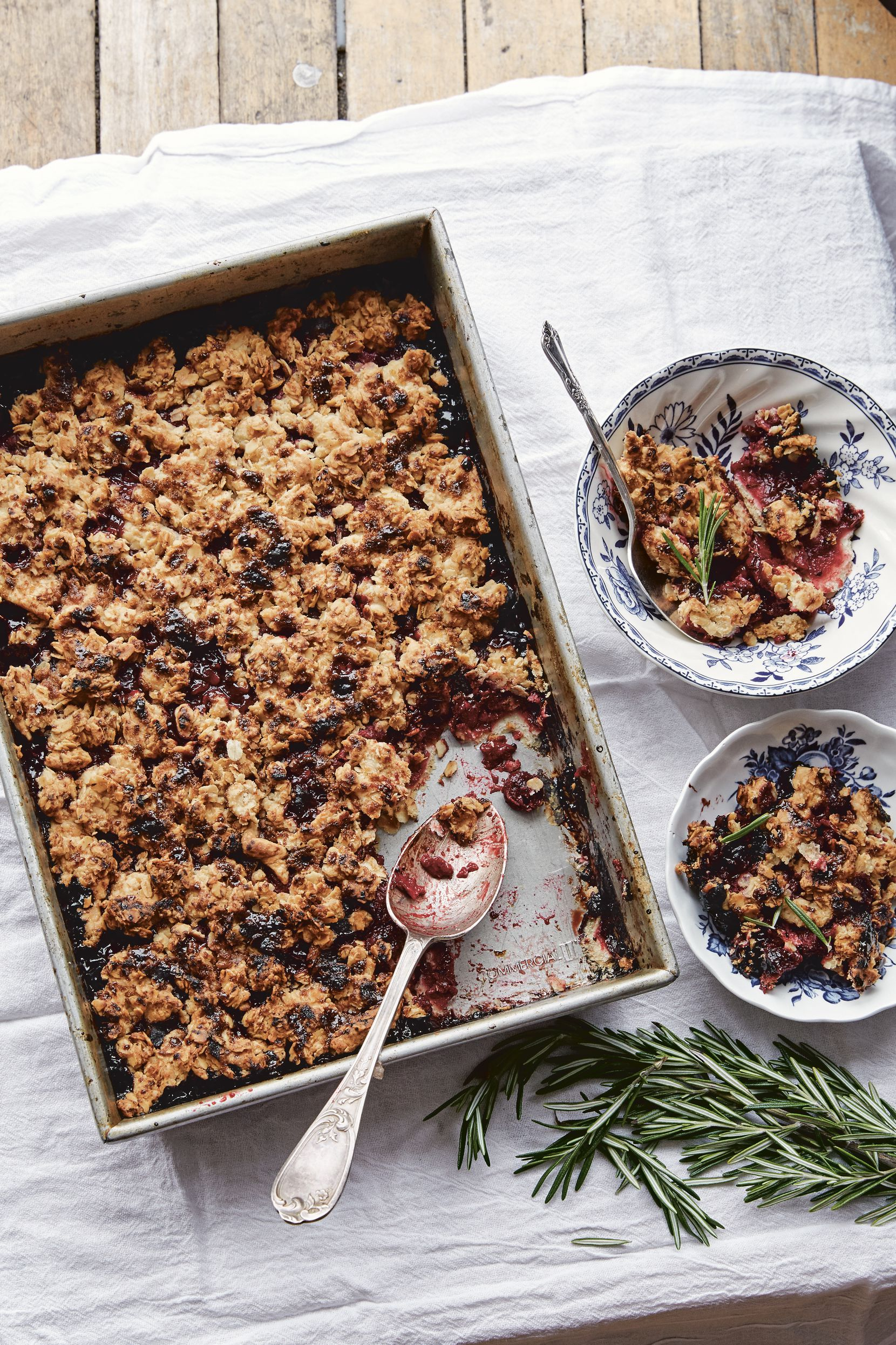 Cherry Rosemary Crumble from Maman The Cookbook by Elise Marshall
