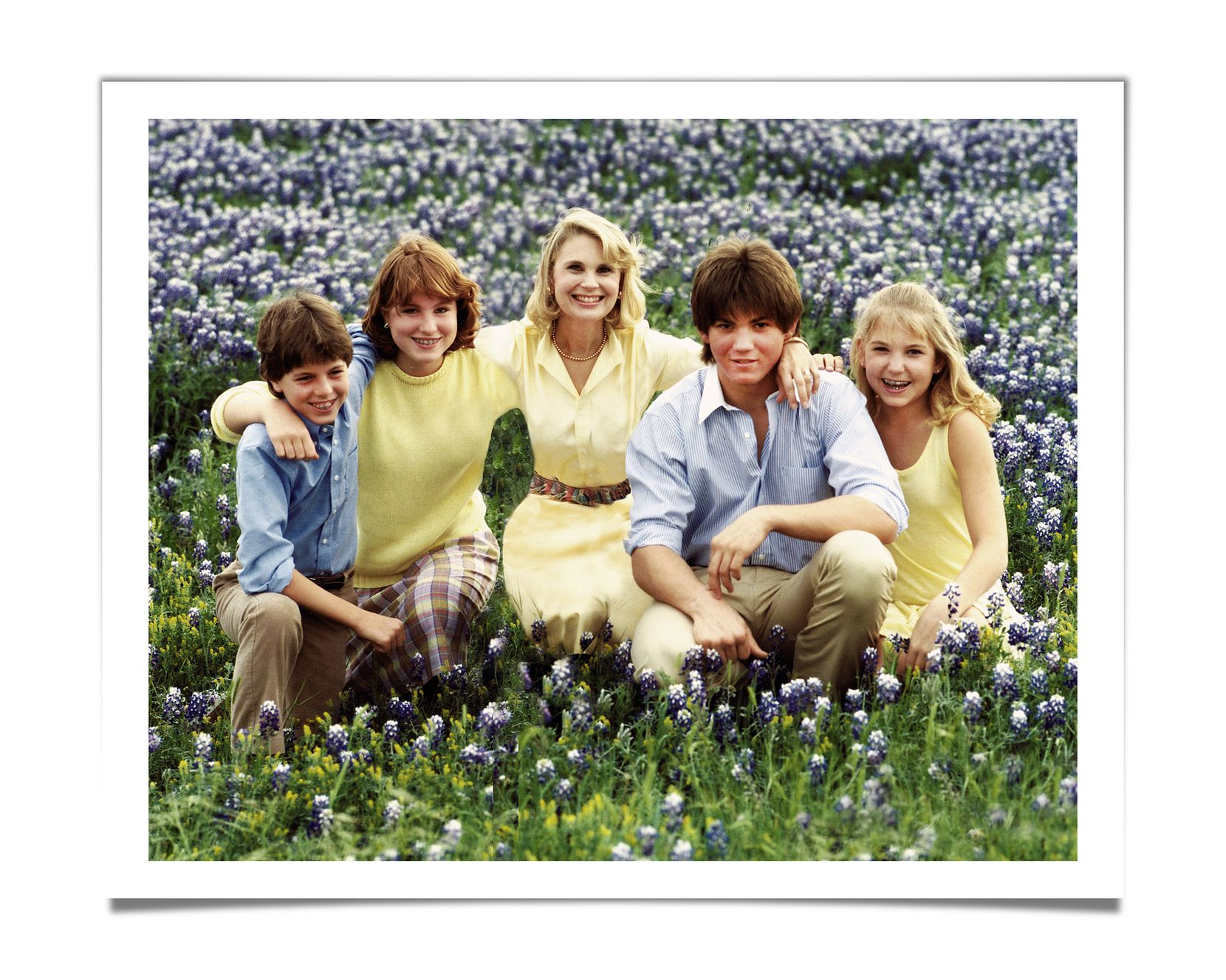 A 1981 family photo shows, from left: Keven McAlester, Martine McAlester, Virginia McAlester, Carty Talkington and Amy Talkington.