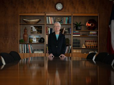Diana Natalicio, outgoing president at the University of Texas at El Paso, will be retiring this year after 30 years leading UTEP. She is shown May 28, 2019.