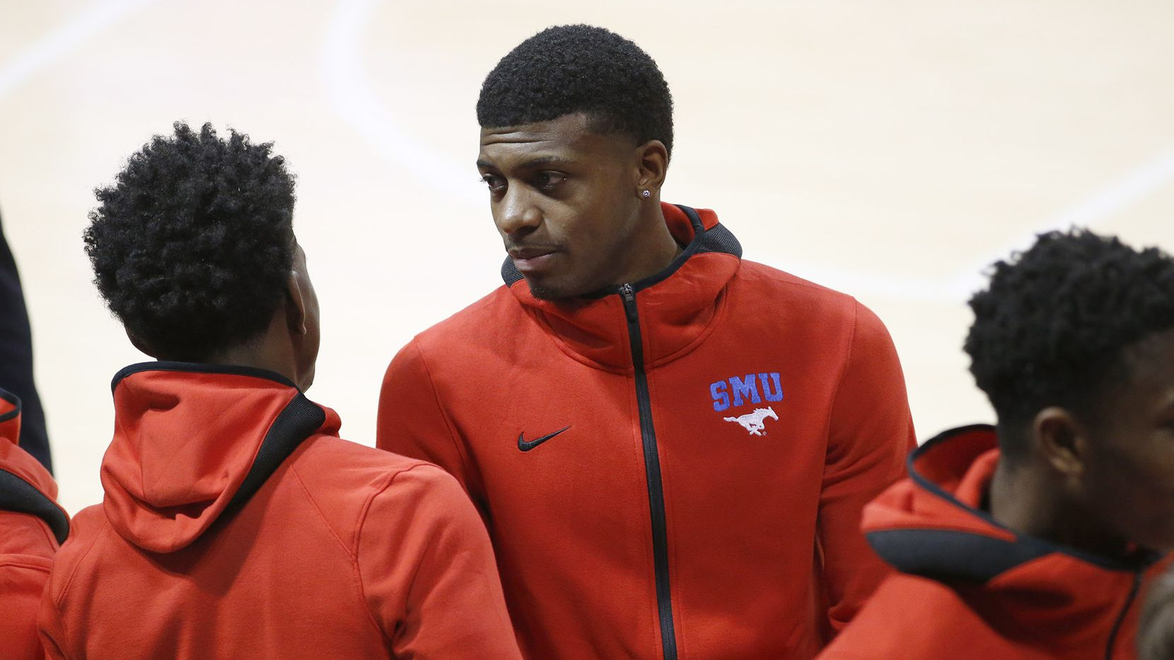 FILE - Darius McNeill looks on during the second half of SMU's game against Jacksonville State at Moody Coliseum in University Park on Tuesday, Nov. 5, 2019.