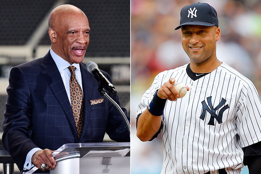 Cowboys great Drew Pearson (left) and Yankees great Derek Jeter. (Photos by Ben Torres, left; Jim McIsaac, right)