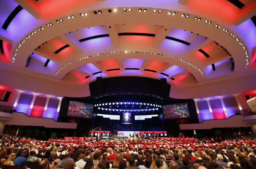 The McKinney Boyd High School commencement ceremony was held at Prestonwood Baptist Church in Plano on June 3, 2016.