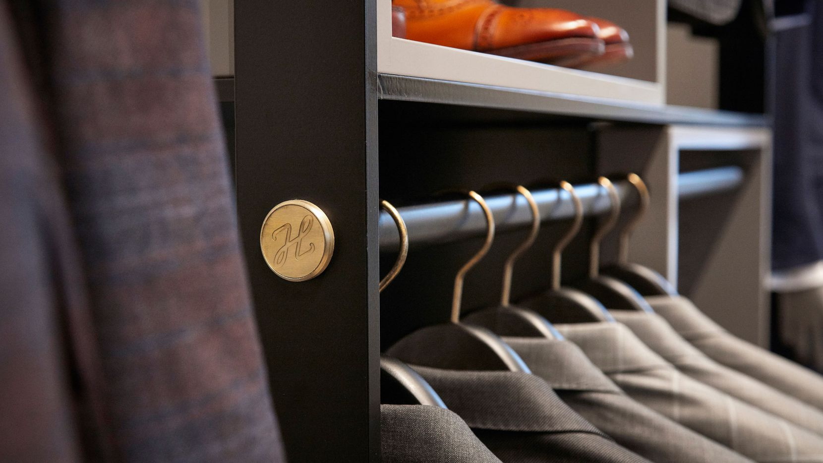 Close up in the J. Hilburn showroom in Dallas at Inwood Village.