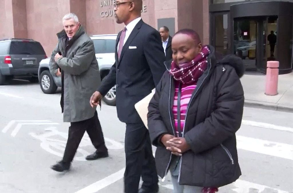 Carolyn Davis, former Dallas city council member, as she exited the Earle Cabell Federal Building in Dallas on March 1.