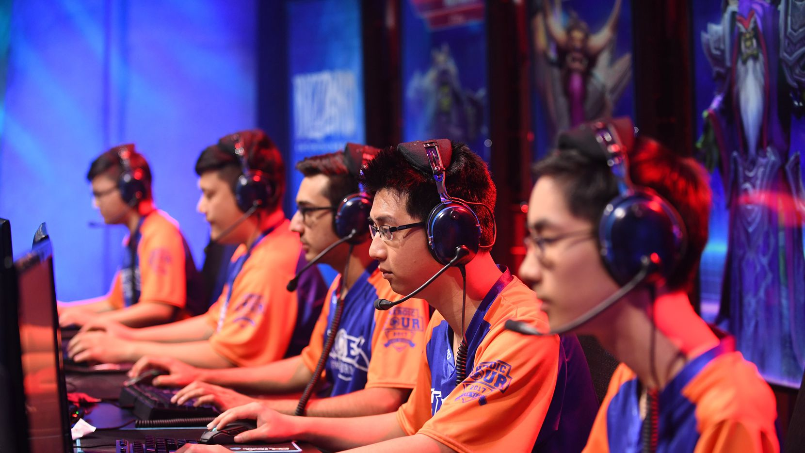 UT Arlington's 'Heroes of the Storm' esports team.