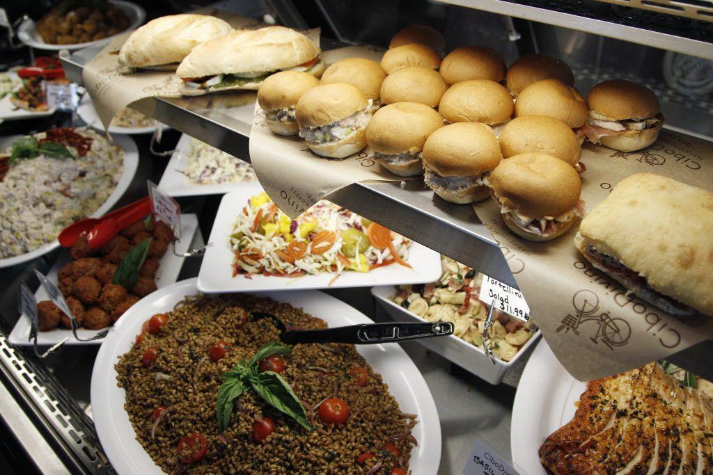 Assorted deli prepared foods at Cibo Divino, Friday, May 1, 2015. (Brandon Wade/Special Contributor)