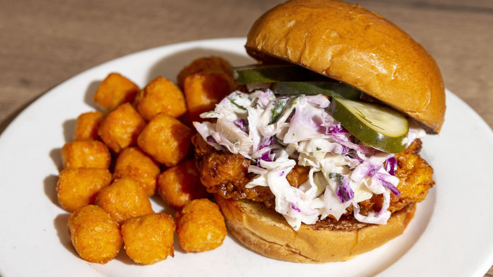 FireBird Fowl is a bird-themed restaurant with a long list of menu items that include Cornish game hen, emu, ostrich, quail and more. Here's the Nashville hot chicken sandwich.