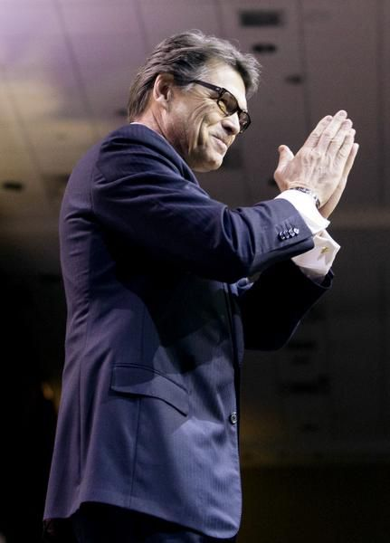 Gov. Rick Perry touted Texas' successes, as well as those of his fellow Republican governors, at the Conservative Political Action Conference on Friday in Oxon Hill, Md.