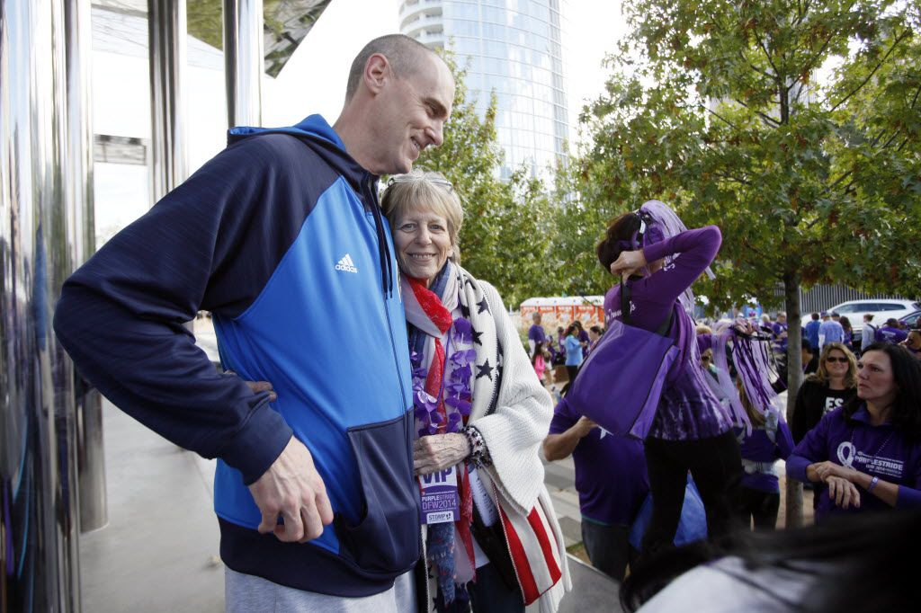 Mitchell embraced Dallas Mavericks head coach Rick Carlisle following his talk at a 5K benefiting pancreatic cancer research in 2014. After being diagnosed with the disease and undergoing successful surgery, Mitchell campaigned to raise awareness.