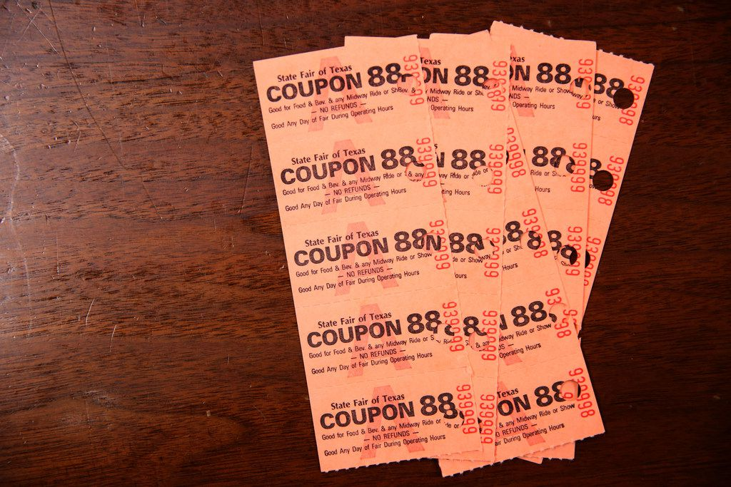 State Fair of Texas coupons from 1988.