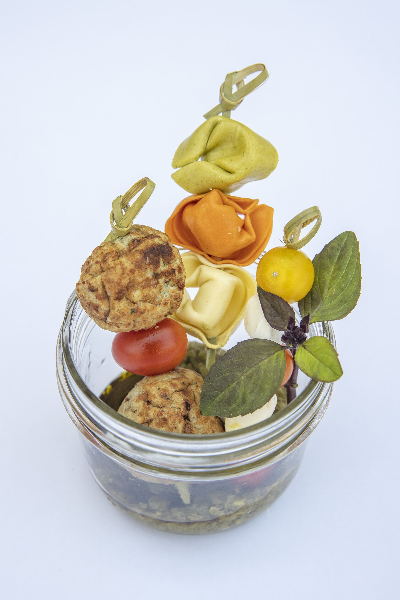 The Meatballs With Pesto jar
