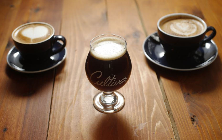 Cappuccino, nitro cold brew and a dirty chai latte at The Old Monk in Dallas