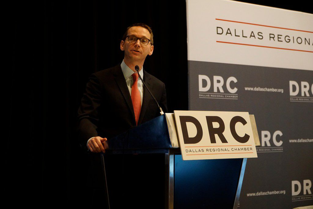 Mike Morath, pictured at the Hyatt Regency Hotel in Dallas, TX on Monday September 30, 2019, told attendees at the 2020 virtual State of Public Education presentation that STAAR tests would likely resume in Spring 2021.