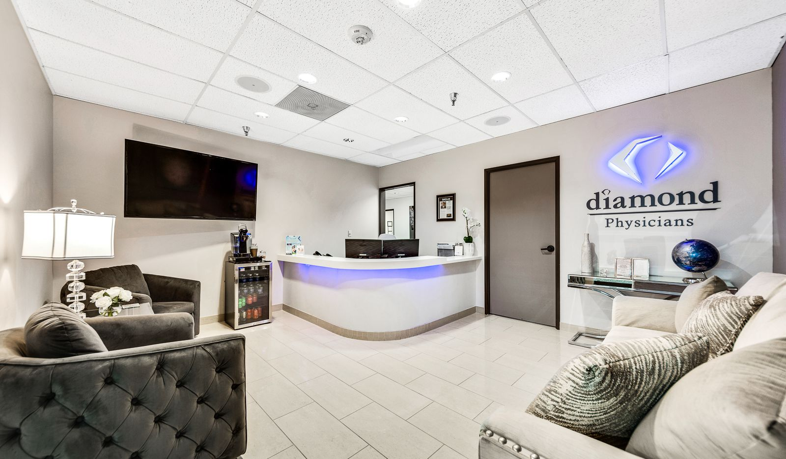 The offices of Diamond Physicians in Dallas. The health professionals there are helping administer COVID-19 antigen testing to MLB teams.
