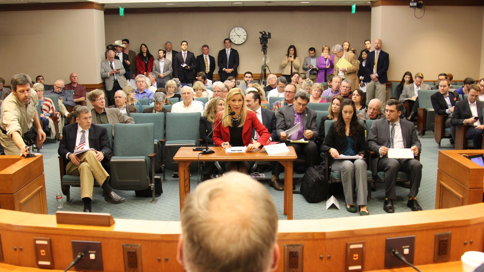 Irving Mayor Beth Van Duyne spoke at the Texas Homeland Security Forum at the Capitol on Thursday.